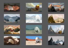 Dragon egg Landscape Color Studies by Hamsta180