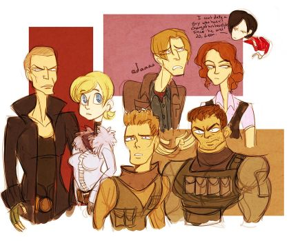 resident evil - 6 doodles by spoonybards