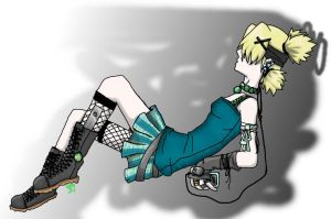 Temari with iPod by GothicLeafeon