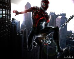 miles morales spider man by masshi128