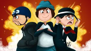 UberHaxorNova, ImmortalHDFilms and GoldenBlackHawk by Den2Cypher