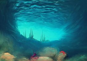 Water Cavern 2. by DreamingMerchant