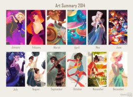 Art summary: 2014 by hyamei