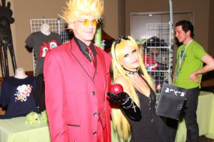 ColossalCon 2013 - Vash and Misa by VideoGameStupid
