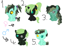 Mlp|Breedable Foals|Kelpy Bliss x Scry Spice|OPEN by cheesepuff2