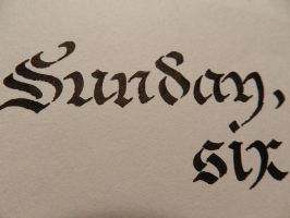 Erik Wijnands calligraphy by MartinSilvertant