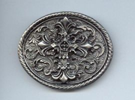 scanned-stock oval cross by scanned-stock