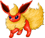 Flareon Coloured by Sulfura