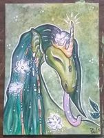 Peaceful Swamp Dragon ATC by LimehouseBlues