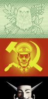 Capitalism-Communism-Anarchy by SamSaxton