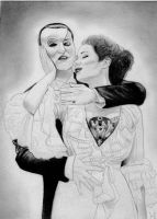 The Phantom of the Opera (Graphite Drawing) by julesrizz