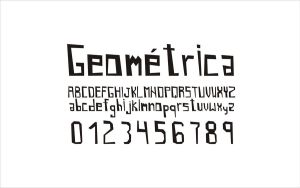 Geometrica font concept by Bebecca