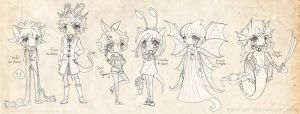 Neopets Sketch Dump by YamPuff