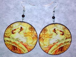 Autumn Art Nouveau Earrings by Eibhlin-san