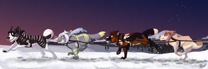 [YCH] Sled Team by Mikaces