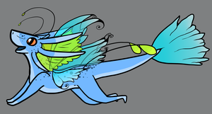 Faerie Dragon by TheseWeirdFishes