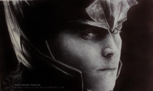 Ballpoint Pen LOKI (Tom Hiddleston) by Bubblegum-Jellybean