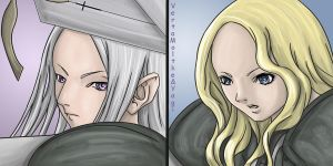 Teresa and Irene, Claymore by VertaMoltke