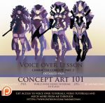 Concept Art Voice over lesson part 2 .promo. by sakimichan