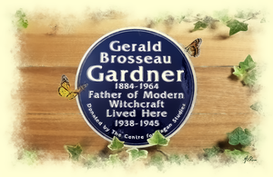 Gerald Gardner Blue Plaque by Albion-James