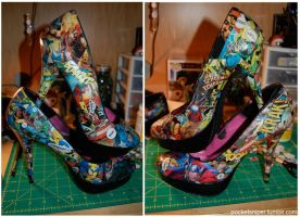 DIY Comic Heels by pocketsniper