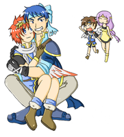 For Mai :Sarah x Proy by SparxPunx
