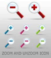 Zoom and Unzoom icon by okiz