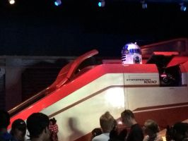 There's R2-D2 in Star Tours vehicle by Magic-Kristina-KW