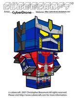Cubeecraft - Optimus Prime 'Cybertron' by CyberDrone