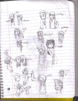 Total Drama Island sketches by KirakuMiso-chan13