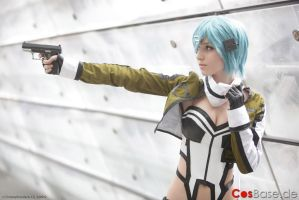 Sinon Cosplay - Sword Art Online 2 Gun Gale Online by AnissaCosplay