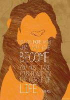 Lion King - Simba Mufasa Quote Poster by JC-790514