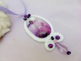 Purple and white pendant by Mirtus63