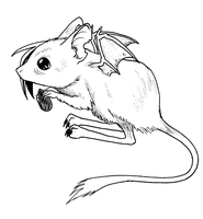 sqweekers rat form by kitsunekage
