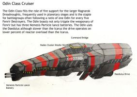 Odin Class Cruiser by Ascendent-of-Heresy