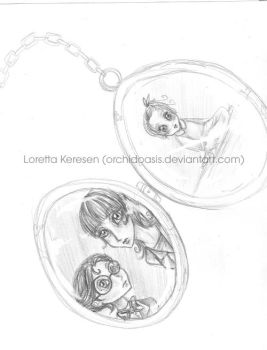 Baudelaire Locket by orchidoasis