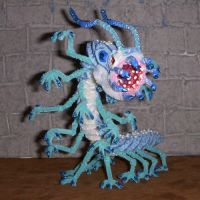 Giant Ice Worm Figure by the-gil-monster