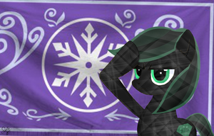 Crystal thorn salutes the Crystal Empire by Midnight-Devilwitch