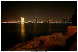 Abu Dhabi at Night by Sultan-Almarzoogi