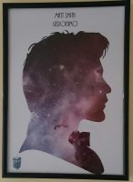Doctor Who Silhouette Portrait by swiftflik
