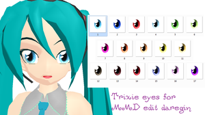 Trixie eyes for MMD models + download by daregindemone04
