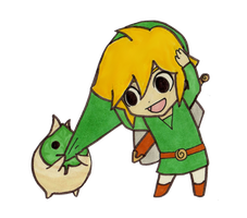 Chibi Link - The Wind Waker by EasterEgg23