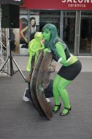 She Hulk and her new lover by Artyfakes