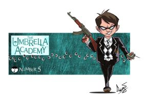 Umbrella Academy- Nmber 5 by DALBELLO182