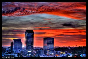 Sunset over Santa Monica HDR by naikmichel