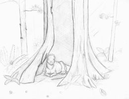 Dino-doodle: rainy day shelter by painted-wolfs-den