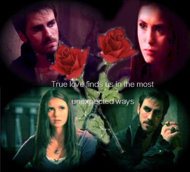 VD/OUAT: Elena Gilbert/Captain Hook by xCrossoverLoverx