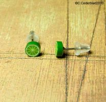 Cute lime earstuds earrings by skuggsida