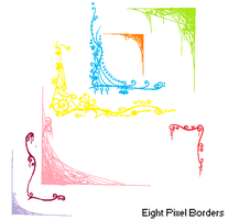 Eight MS Paint Friendly Pixel Borders by xLovely-Pixels