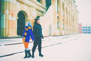 Gajeel and Levy from Fairy Tail by OrdinaryOrganika